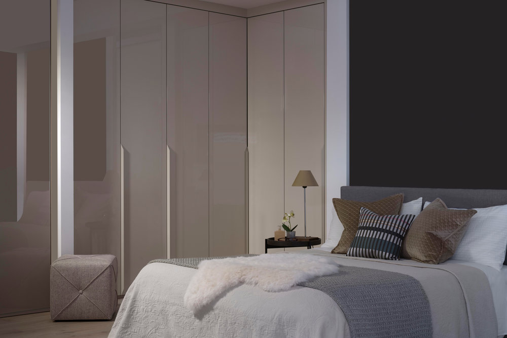 Light Dove Grey Lacquered Doors