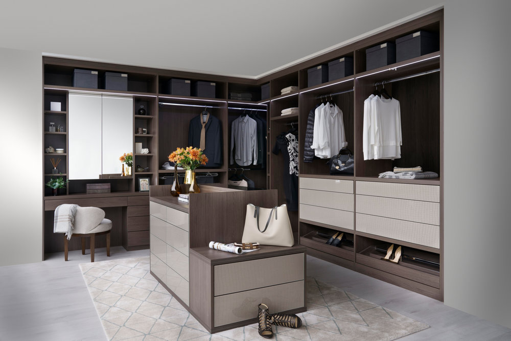 Anthracite Walk In Wardrobe