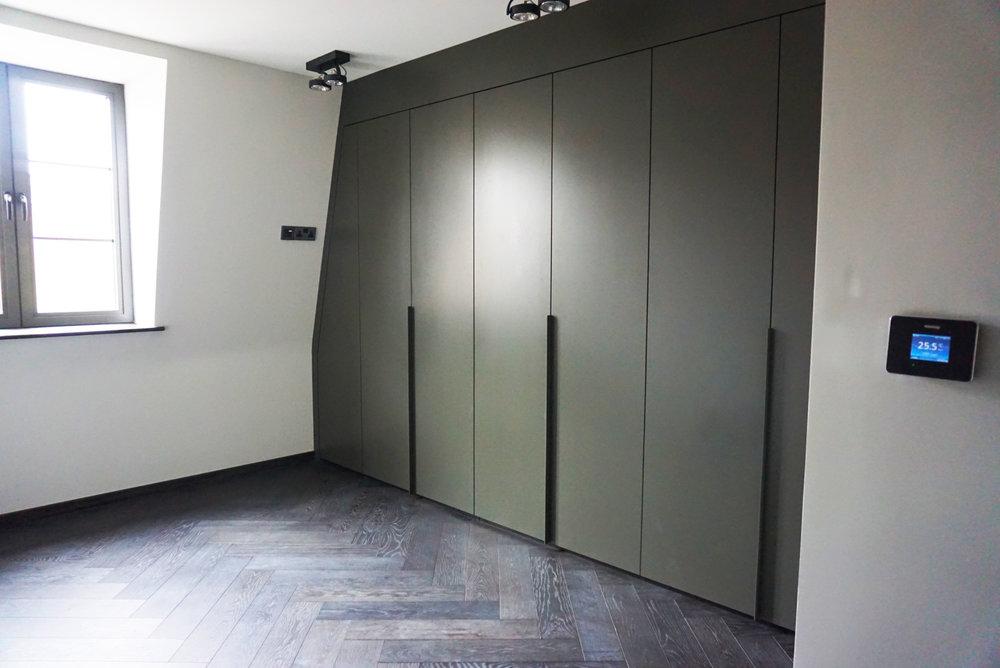 Bespoke Colour Matt Lacquered Angled Hinged Doors.jpg