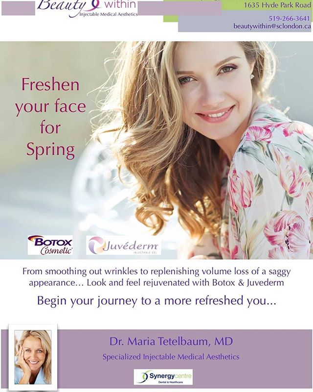 Spring is upon us! #beautywithin #botox #dermalfillers #volite @synergycentre