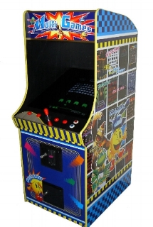 60 in 1 Classic Arcade Game - Upright             Games Include: Ms Pacman / Galaga / Frogger                 Donkey Kong / Donkey Kong Jr. / Dig Dug                       Invader Tank / Battalion / Galaxian                                             AND MORE!