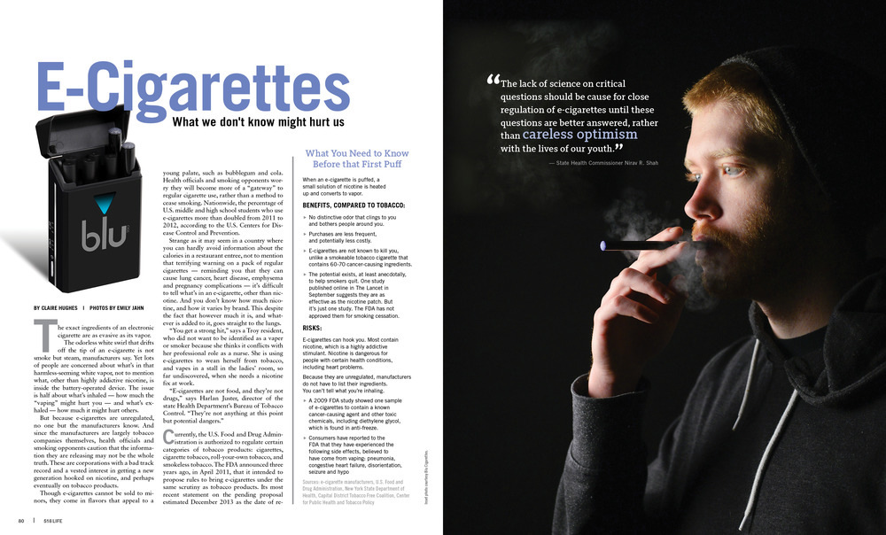 An article about the popularity of E-Cigarettes and the consequences they have on the smoker's health. More here