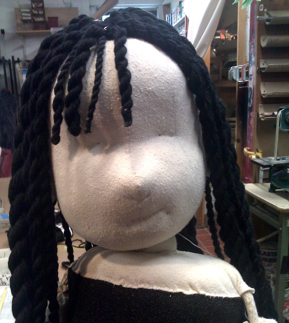 Fabric Girl, the Puppet Kitchen 2013