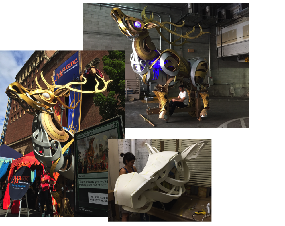 Giant Elk, the Puppet Kitchen for Magic the Gathering 2016