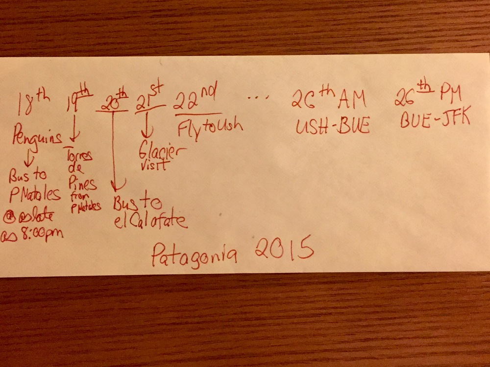 Some front of the envelope travel calculations right here. So many moving awesome parts on this trip.  PS: If your my parents, there's even more complex machinations at the end of that envelope involving layovers and being a good son.