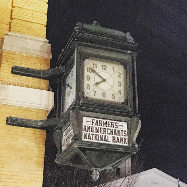 Cool clock in downtown Winchester.