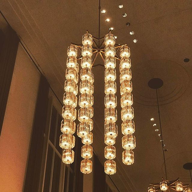 Mid-Century chandeliers at the opera.