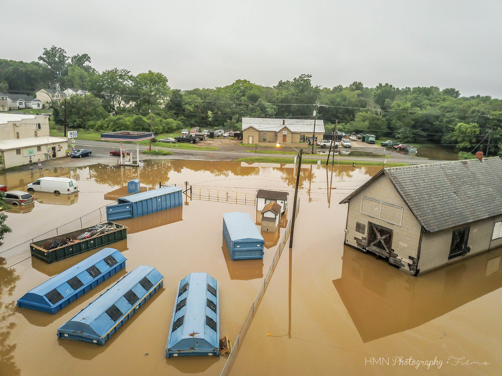 Remington Flooding Aerial Photography