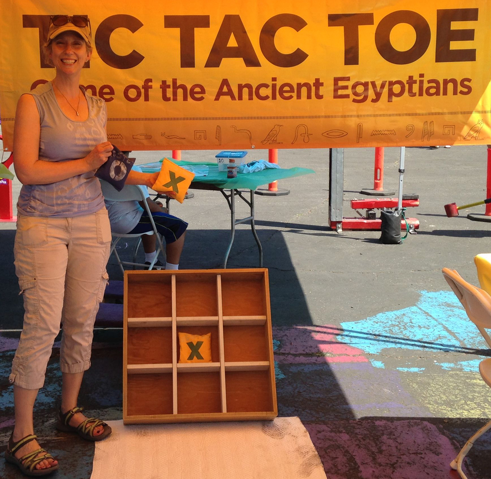 Tic Tac Toe   The pyramids aren't the only things that originated in Ancient Egypt. Come walk on over like an Egyptian and play this ancient pastime.   2 tickets to play.