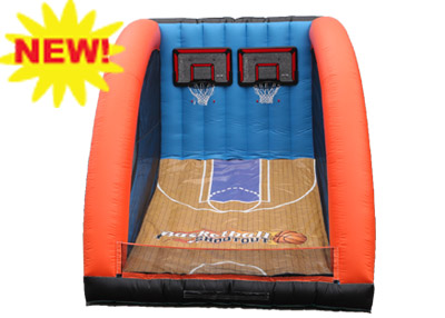 Hoops Nothing but net! Shoot through the basketball hoop to win. 1 ticket to play (3 balls per turn)
