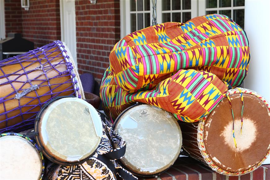 A bunch of drums used to beat out cancer