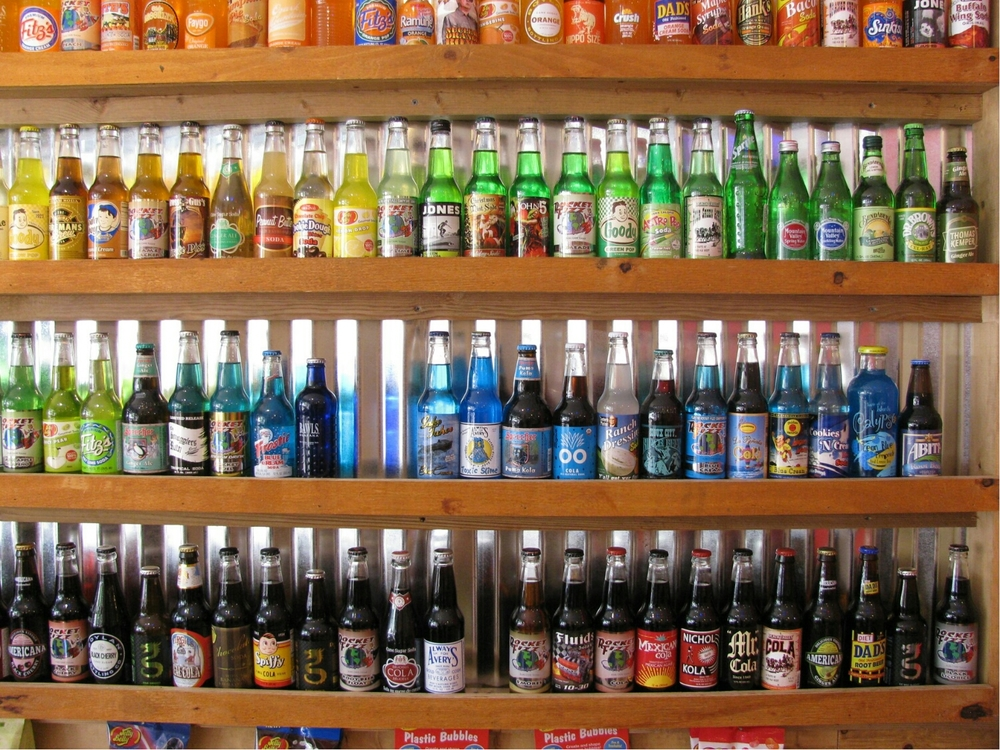 Exotic flavored sodas. Take your pick.