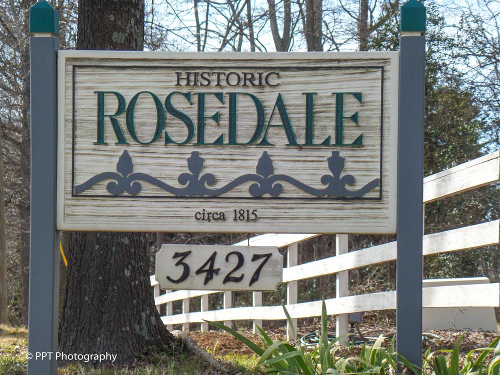 Rosedale Plantation sign Charlotte, NC