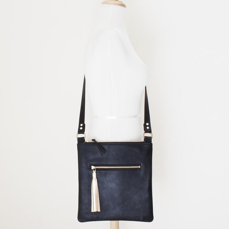 ... NEW Large Black Leather Cross Body.jpg. Black Leather Crossbody Handbag 25a28943618d6