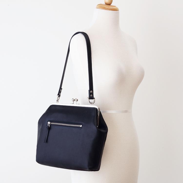 NEW Black Leather Silver Frame Bag Angled.jpg ... 60472fbfaf58b