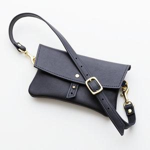 Black Leather Belt Bag Top Shot.jpg ... 6d0c1ee119b93