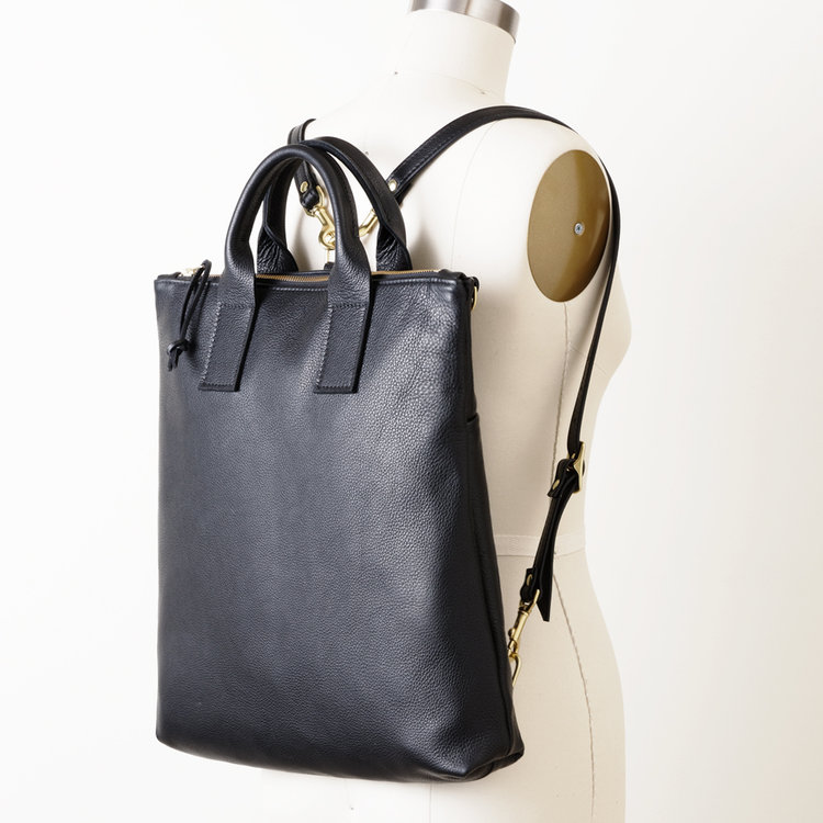 NEW Black Leather Convertible Backpack.jpg ... 0a6c54ce91968