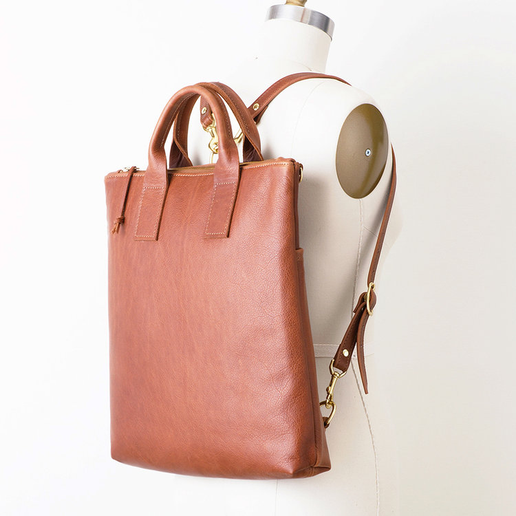NEW Black Leather Convertible Backpack.jpg NEW Brown Leather Convertible  Backpack Angled Darker copy.jpg 24abd08a830e8