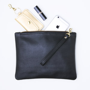 NEW 11 x 8.5 Black Leather Pouch with Stuff.jpg ... f5eb859c22a10