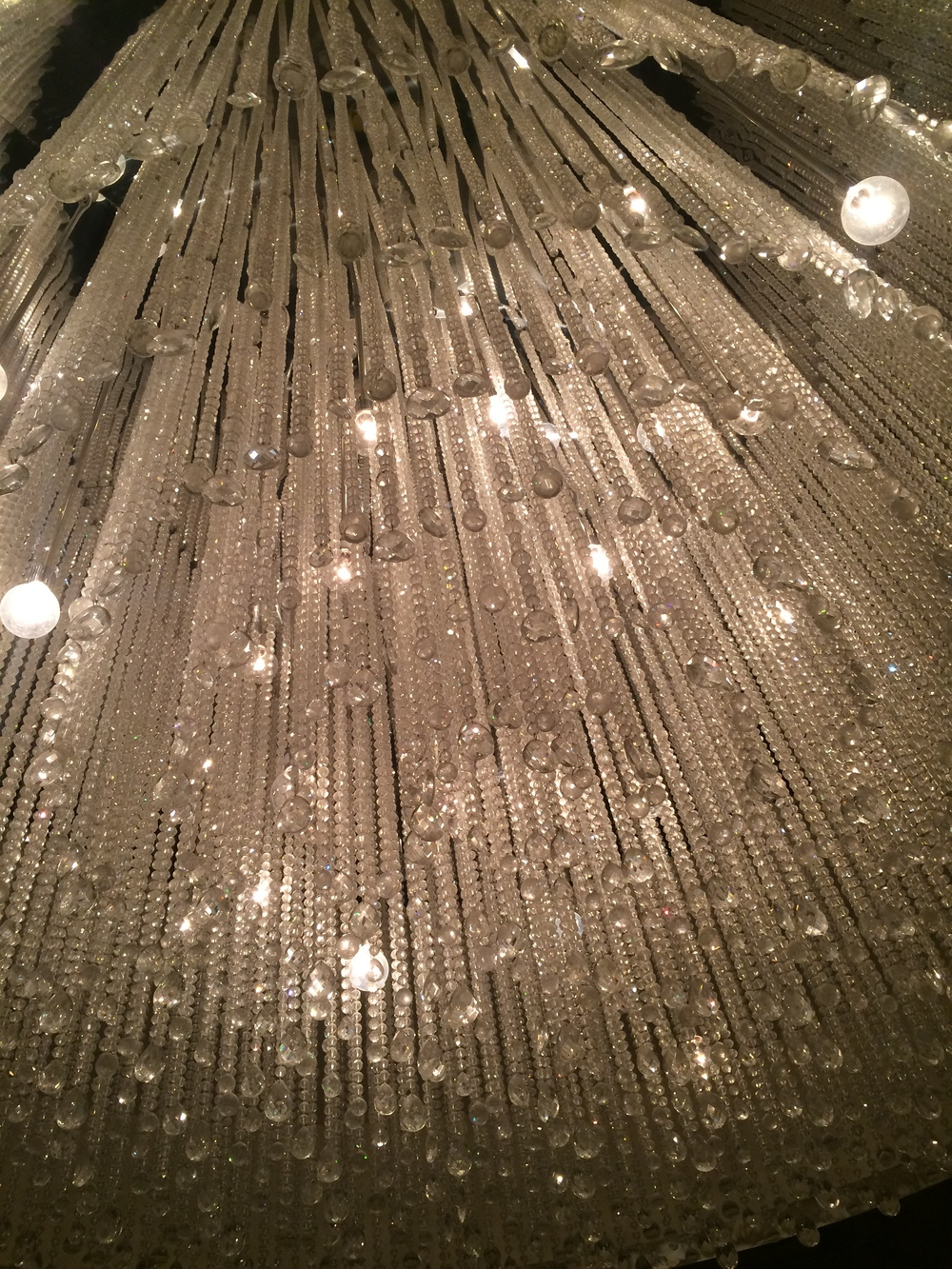 We sat under this Gorgeous Chandelier
