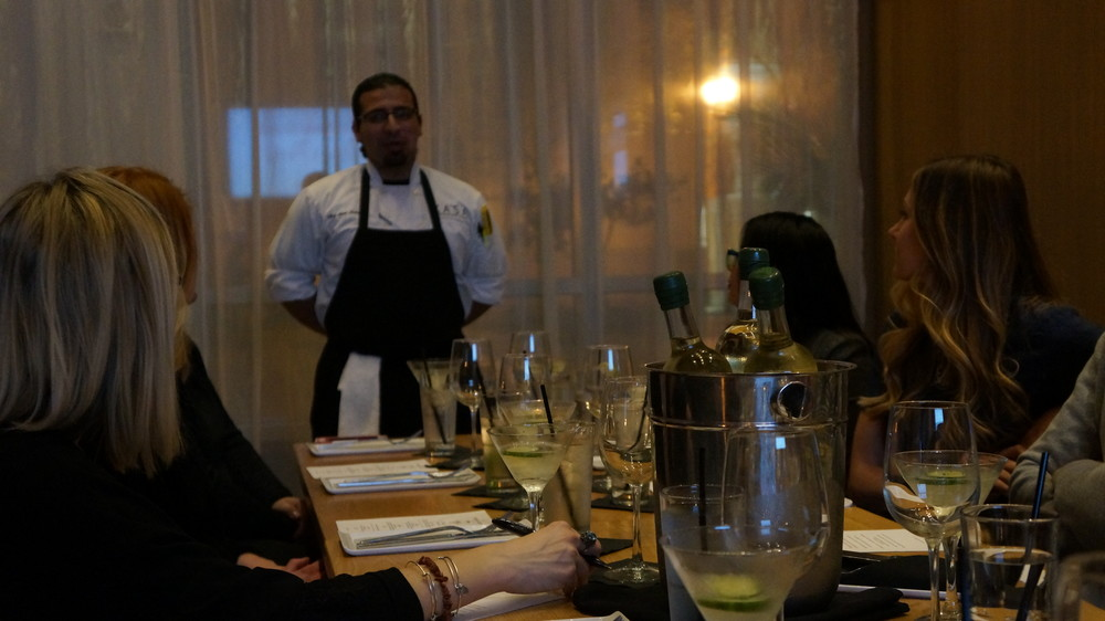 KASA's Head Chef Amir Maleki telling our Guests his background as a Chef.