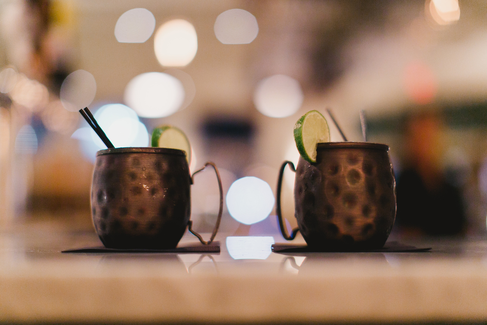 A delightful twist on a Moscow Mule w Sake.