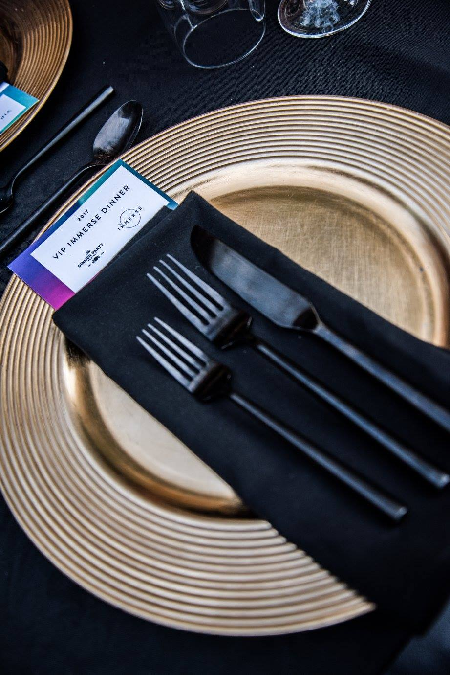 We always are crushing on that Black Matte Silverware by  Treasury Rentals.