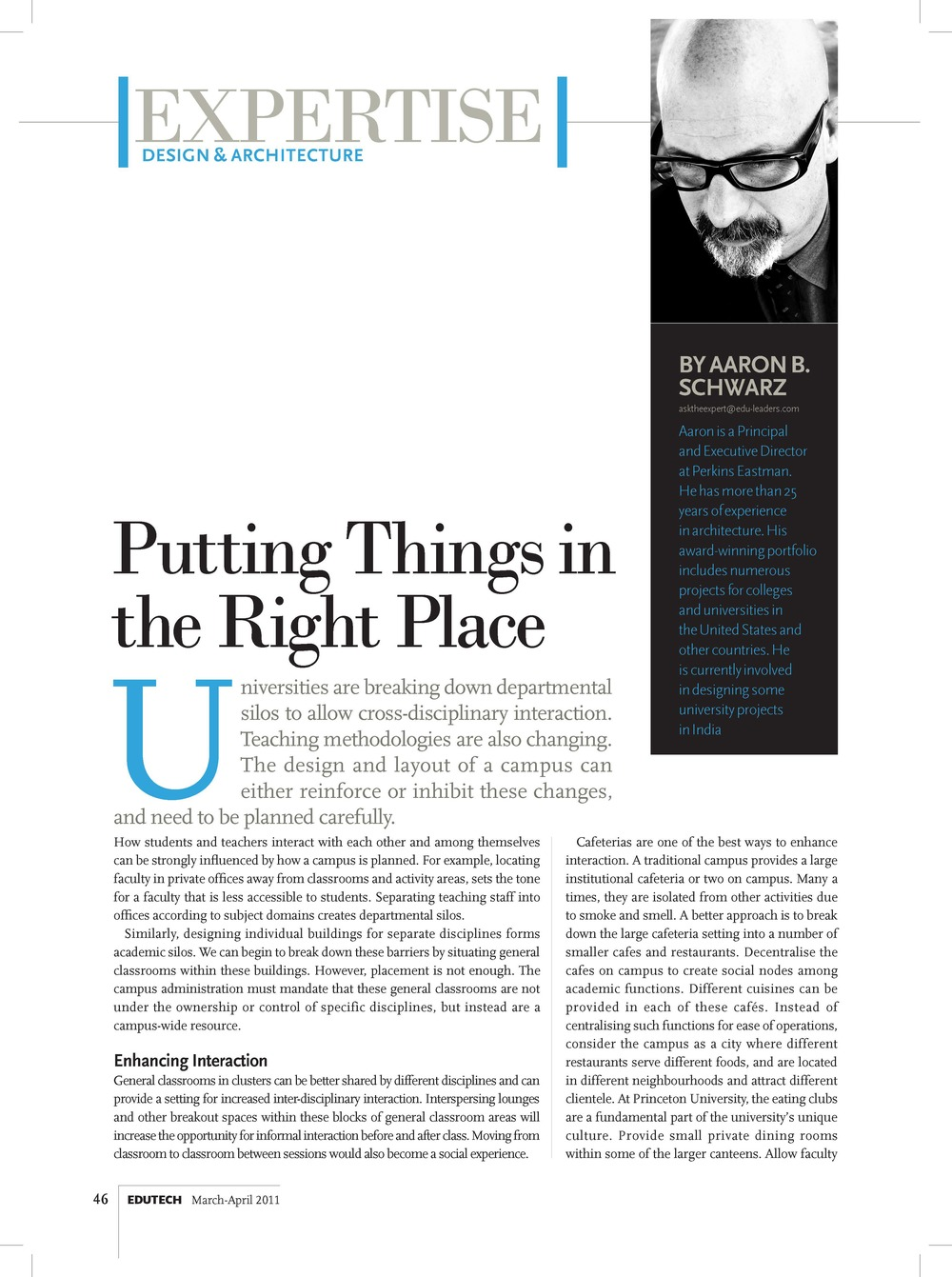 Expertise - Aaron Schwaz - Putting things in the Right Place