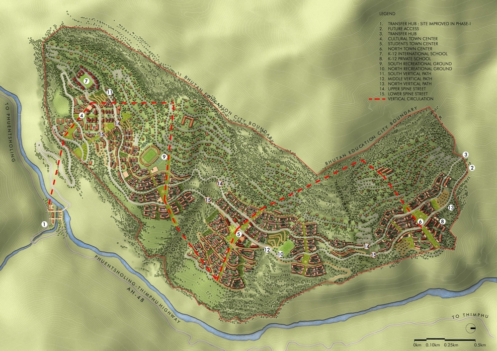 Bhutan Education City Plan - Plan A