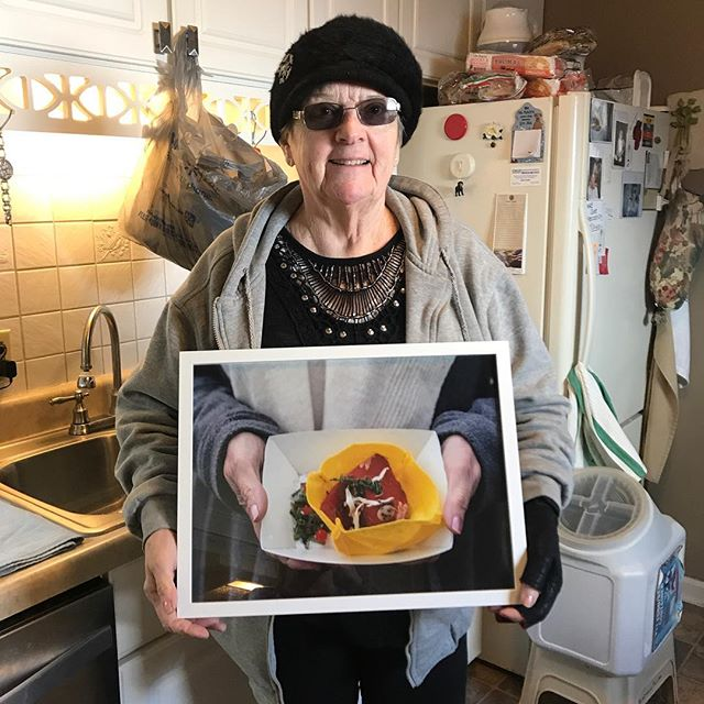 Picked up my work from @garfield_park_arts_center yesterday and swung by to visit my grandma. Now her kitchen walls will be adorned with her own creation!