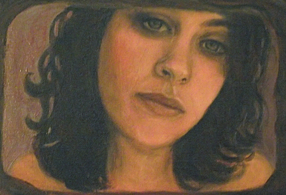 self-portrait, oil & acrylic, 2010