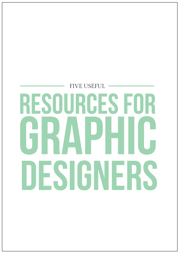 useful resources for graphic designers