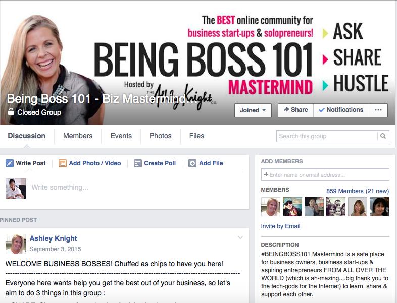Ashley Knight FB group