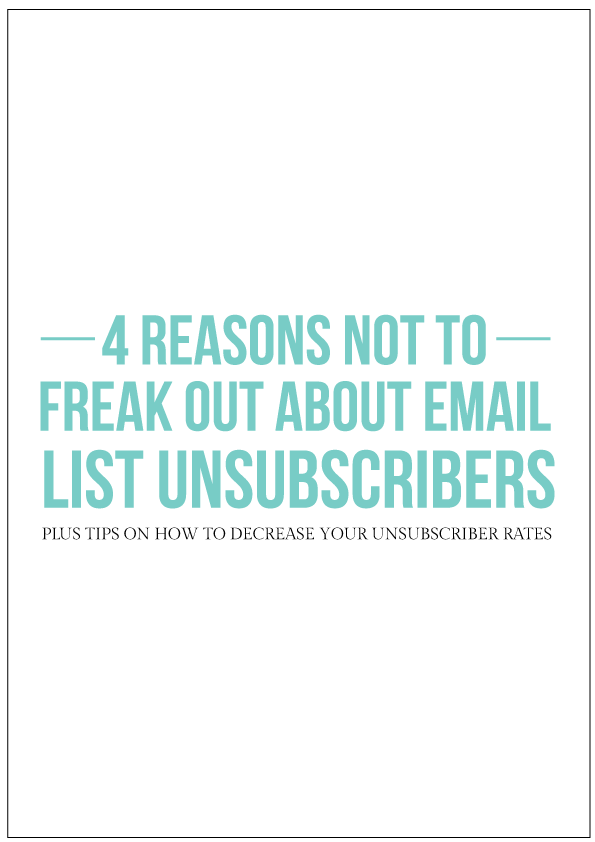 "So you've set up your mailing list that people signed up for. You decide to take the leap and send out a newsletter and suddenly you're getting notifications for unsubscribers. That's not what you wanted, you actually want people to subscribe, not unsubscribe! At this point you will be tempted to wail and send emails saying, ""Nooo! Come back, stay! Here's a 50% coupon that you are probably not interested in but it'll entice you to stay for a little while!"" to the people who have unsubscribed to your mailing list. Dramatics aside, maybe you're gobsmacked to what you should do now.  The common misconception with mailing list newbies is that email unsubscribes are bad and you're doing something drastically wrong. Don't freak out, I'm here to tell you that it's not a bad thing; it's actually a good thing for your business! Here's several reasons why:"