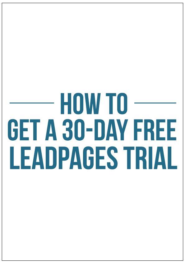 Did you know you can try out Leadpages for free? It's not even a hack, Leadpages is rather strategic and clever about their trial, you could elarn a thing or two for them. Anyway if you're a blogger or biz owner who has heard praise about Leadpages but did not want to drop cash on it without trying it first, you can now try it out. Click the link to read a step-by-step tutorial on how to get a 30-day free leadpages trial.