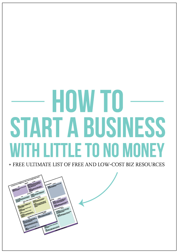 Allebasi Design How To Start a Business With Little To No Money