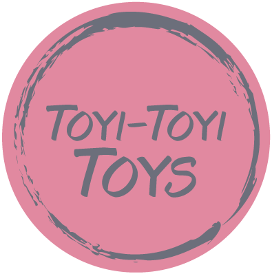 ToyiToyiToys stamp inspired logo for a toy company designed by Allebasi Design