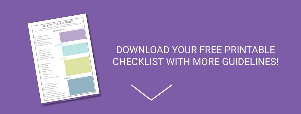 Free checklist download