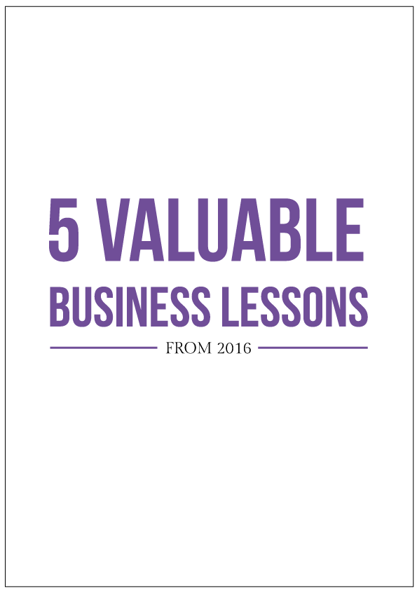 5 valuable business lessons