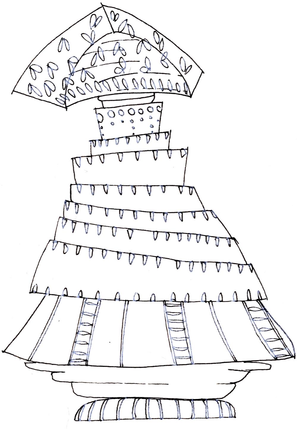 Ode to Intuición's Flamenco Dress l Sketch