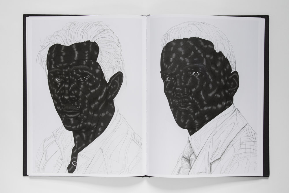 The Treatment 2015-17, by Toyin Ojih Odutola Published by Anteism 106 pg (Colour, Offset) 9 in x 12 in - 23 cm x 30.5cm Hardcover - Perfect binding Black linen, blind deboss