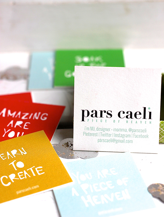 Turn your vision statements into business cards — Pars Caeli