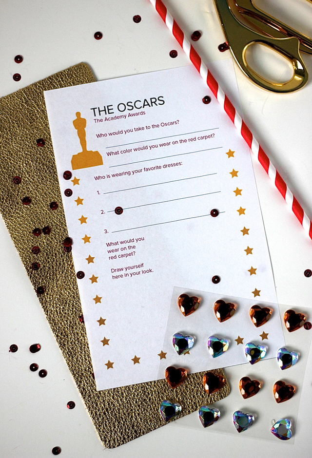 Are you ready for the Oscars red carpet? Here's your free printable for tracking your favorite gowns. Perfect for family viewing time.