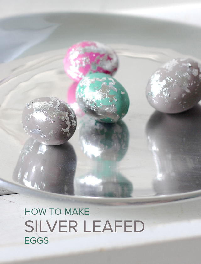 Bring the glam to Easter eggs with some silver leafing! Way easier than you think it might be.