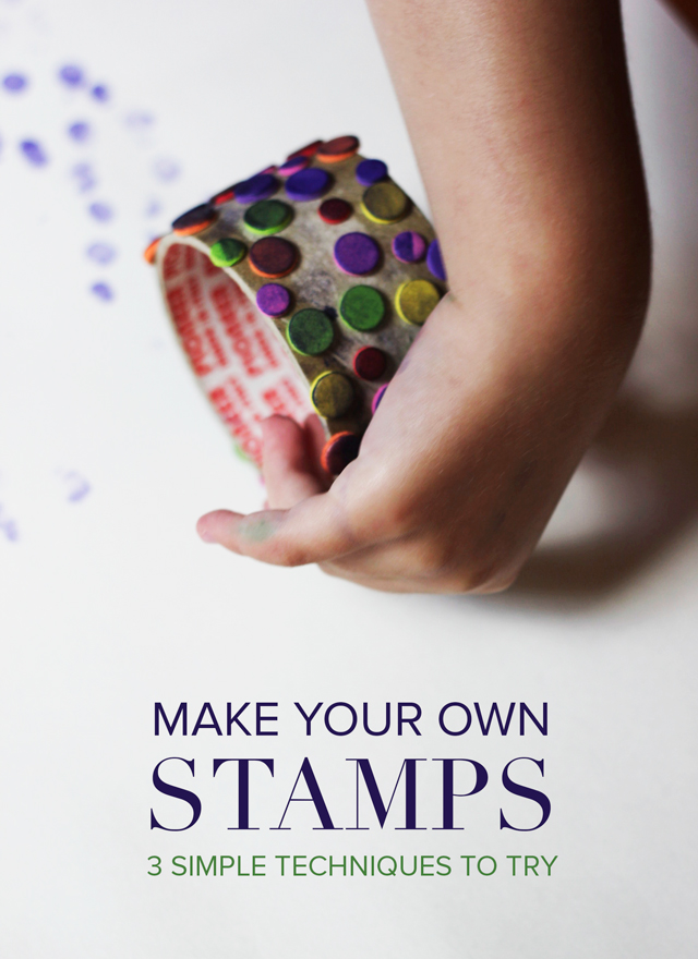 You can use found objects to create fun stamps for any kind of project! Pin this one for later.