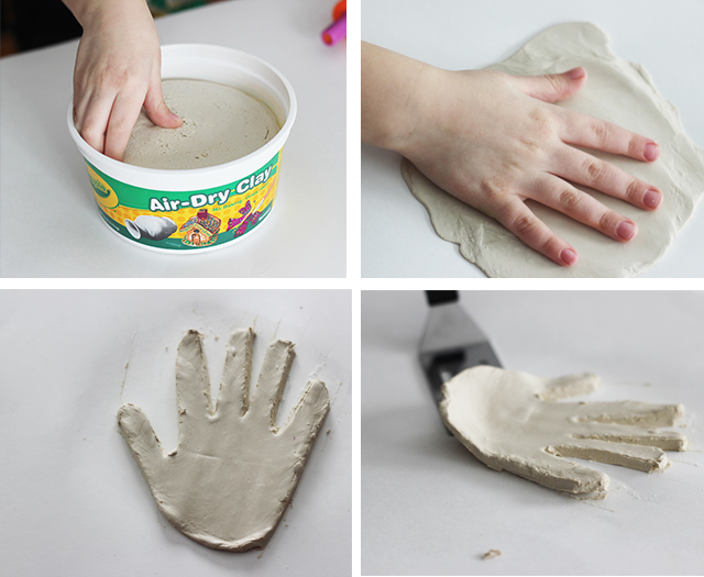 A sweet, homemade gift for mothers and teachers! Make this one with your child from air dry clay.