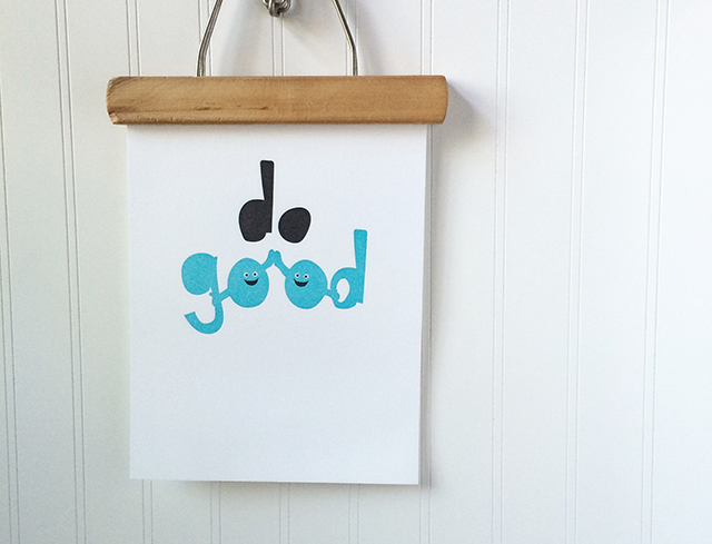 Limited edition Do Good letterpress print will be a part of Shop Pars Caeli later this month!