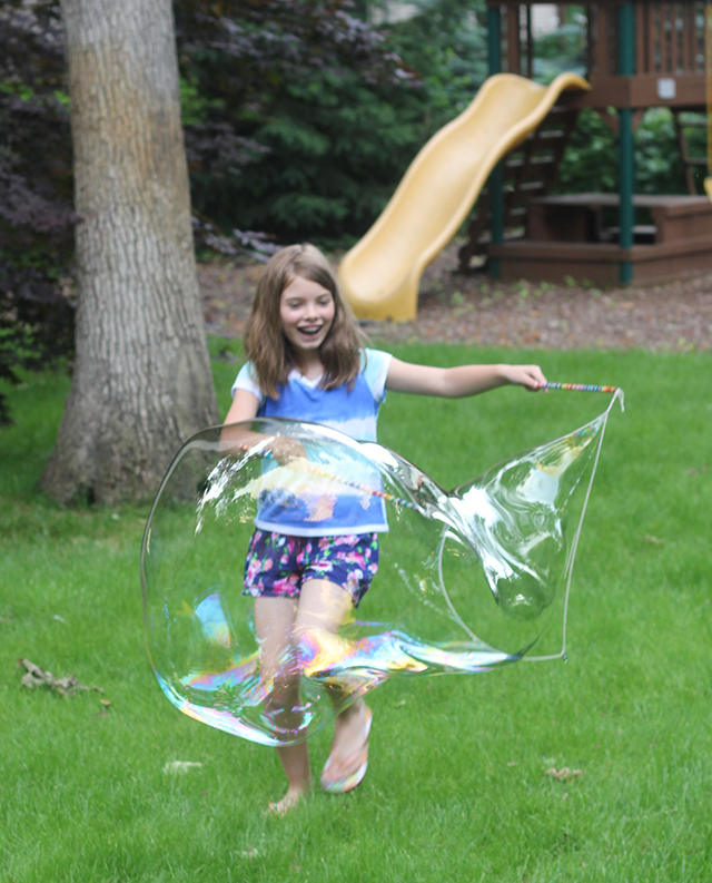 The best 30 minutes we've spent all summer - creating these bubble wands and magic solution from Inner Child Fun. You have to give these a whirl!