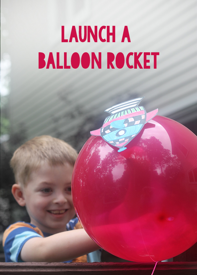 Watch how the force of air leaving a balloon can launch a rocket!