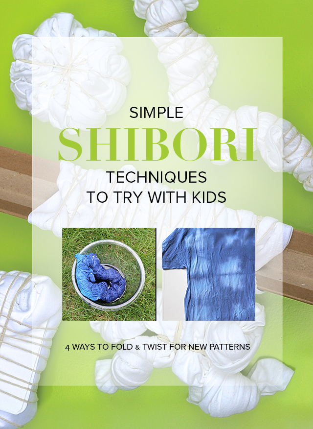 Bring fresh pattern and process to tie dying with your children through the ancient art of Shibori! A simplified process that's fun to follow.